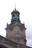 De klokketoren van het Paleis van Stockholm royalty-vrije stock afbeeldingen