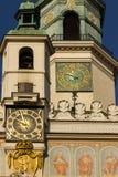 De klokketoren van het Stadhuis. Poznan. Polen Stock Foto's