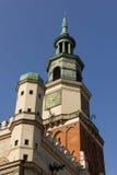 De klokketoren van het Stadhuis. Poznan. Polen stock afbeelding