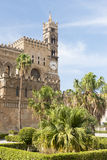 De Klokketoren van Palermo Cathedral Stock Foto's