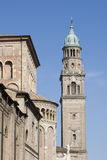 De klokketoren van San Giovanni Evangelista, Parma Royalty-vrije Stock Afbeeldingen