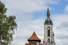 De klokketoren van Tournai, België royalty-vrije stock foto's