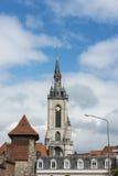De klokketoren van Tournai, België stock afbeeldingen