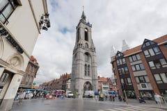 De klokketoren van Tournai, België royalty-vrije stock afbeelding