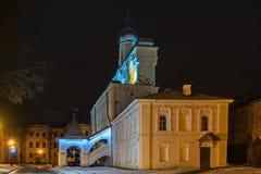 De klokketoren van Veliky Novgorod Detinets royalty-vrije stock afbeeldingen