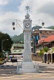 De klokketoren van Victoria, Seychellen Stock Foto