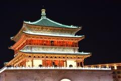 De Klokketoren van Xian, China stock foto