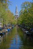 De klokketoren van Zuiderkerk Stock Fotografie