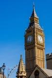De klokketoren verticaal Londen van Big Ben, Royalty-vrije Stock Afbeelding