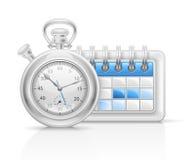 De klokpictogram van de kalender Royalty-vrije Stock Afbeeldingen