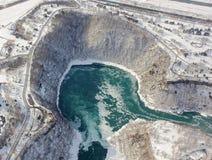 De Kloof van de Niagaradraaikolk in de Winter Royalty-vrije Stock Afbeelding