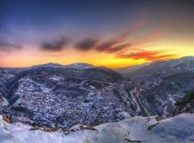 De kloof van Iskar-rivier, Bulgarije stock foto