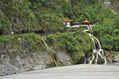 De Kloof van Taroko, Taiwan Het heiligdom van watervaltchang-tchoun Royalty-vrije Stock Afbeeldingen