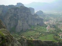 De Kloosters van Griekenland Meteora Stock Foto's