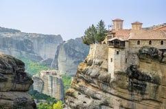 De Kloosters van Meteora Stock Foto's