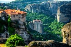 De Kloosters van Meteora in Griekenland stock fotografie