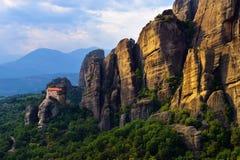 De Kloosters van Meteora Griekenland stock afbeeldingen