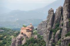 De Kloosters van Meteora, Griekenland Stock Fotografie