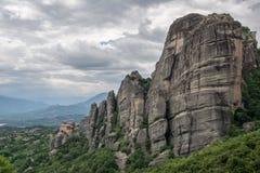 De Kloosters van Meteora, Griekenland Stock Foto's