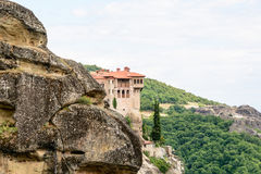 De Kloosters van Meteora, Griekenland Stock Foto