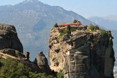 De kloosters van meteoren in Griekenland Stock Fotografie