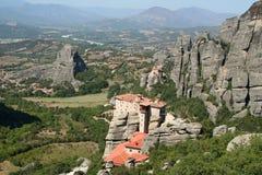 De kloosters van meteoren in Griekenland Royalty-vrije Stock Fotografie