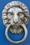 De Kloppers van de deur op Blauwe Deur Royalty-vrije Stock Afbeeldingen