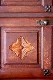 De klopperslanzarote van Spanje deurhout in roodbruin Royalty-vrije Stock Afbeelding