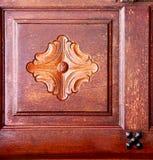 De klopperslanzarote van Spanje deurhout in roodbruin Royalty-vrije Stock Foto