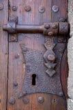 de klopperslanzarote van Spanje van het kasteelslot abstract deurhout Royalty-vrije Stock Afbeelding