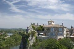 De Kloven van de Ardèche. Frankrijk Stock Afbeeldingen