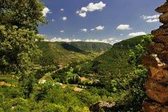 De kloven van de riviertarn, Zuidelijk Frankrijk Stock Afbeeldingen