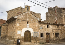 De kluis van San Ramon in Fuentes Claras stad, provincie van Teruel, Aragon, Spanje Royalty-vrije Stock Foto
