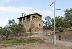 De kluis van Santjaume de sesoliveres, Igualada, provincie van Barcelona, Spanje Stock Afbeelding