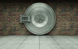 De kluisdeur van de bank Stock Foto