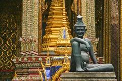 De kluizenaar, Wat Phra Kaew, Bangkok Stock Afbeelding