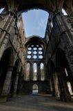 De kluizenkathedraal Abbey Villers la Ville, België van het ruïnesdwarsschip stock foto