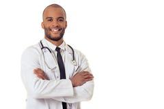 De knappe Amerikaanse arts van Afro Royalty-vrije Stock Afbeeldingen