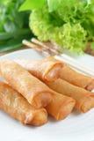 De knapperige Chinese Traditionele Lente rolt voedsel Stock Afbeeldingen