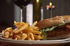 De knapperige Sandwich van de Kip Stock Afbeelding