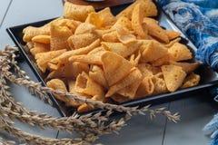 De knapperige snack van graankegels stock afbeelding