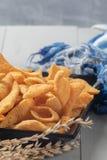 De knapperige snack van graankegels stock foto