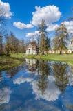 De Knarsende Chinese Pagode in Catherine Park in Tsarskoye Selo Stock Fotografie