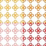 De knoop naadloos patroon van het klaverblad Stock Foto's