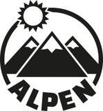 De knoop van alpen - het Duits vector illustratie