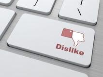 De Knoop van de afkeer - het Sociale Concept van Media. Royalty-vrije Stock Foto's