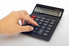De Knoop van de Calculator van de Duw van de hand Stock Afbeeldingen