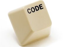 De knoop van de code Stock Afbeeldingen