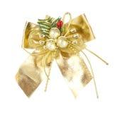De knoop van de de decoratieboog van Kerstmis Royalty-vrije Stock Afbeeldingen