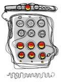 De knoop van de hakker (pictogrammen) royalty-vrije illustratie